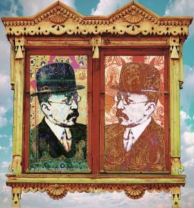 А.Аханов. Двойной портрет И.А.Рязановского