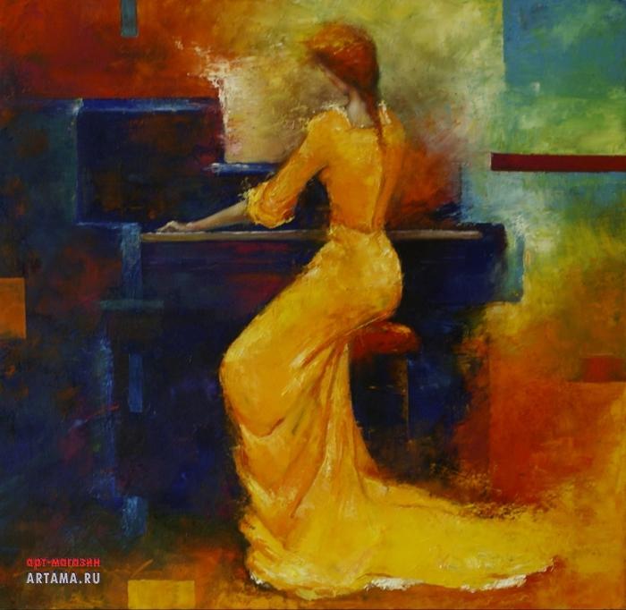 Жёлтая пианистка