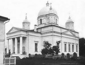 Троицкий собор Николаевского Староторжского монастыря. Фото начала ХХ века.